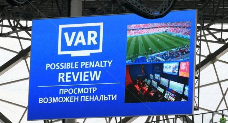 big screen var from fifa 2018